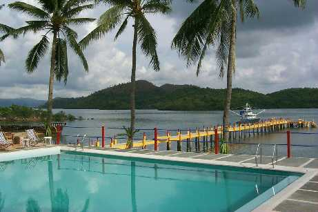 The Only Swimming Pool In Coron